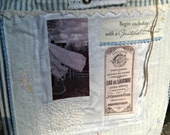 Vintage Fabric Collage Wall Hanging