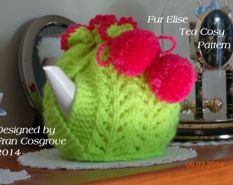 Fur Elise Tea Cosy Knitting Pattern PDF