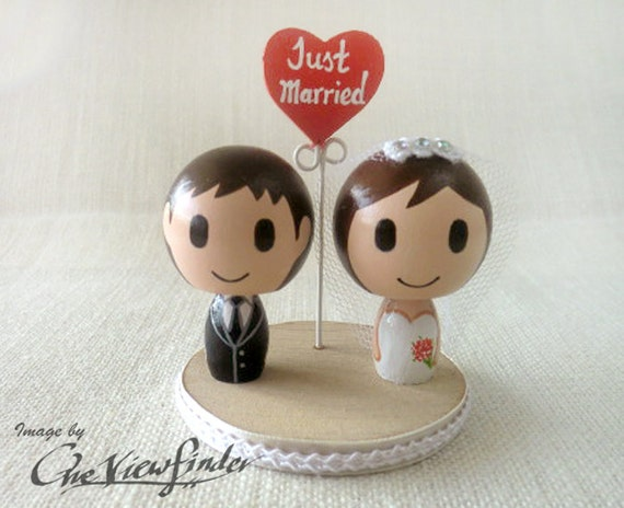 Customise Wedding Cake Topper with Heart Message