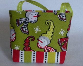 Christmas Bag, Tote, Purse, Bag, Snowman Bag, Gift Ideas, Gift Card Bags