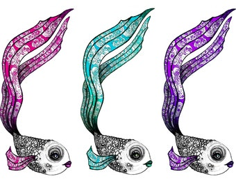 Fishy Bookmarks - Set of 3