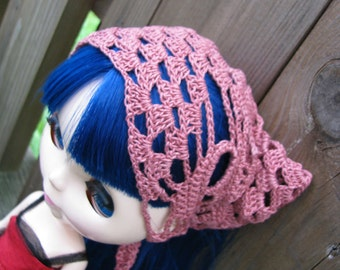 Cranberry Skull head scarf Shawl for Dolls fit Blythe and Pullip size LARGE