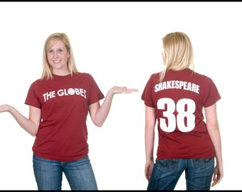 William Shakespeare T-Shirt Jersey - Hamlet - The Globe Theater - Avon - Book Gift - Literary T-Shirt