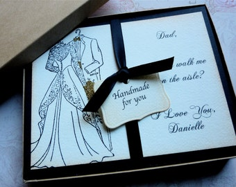 Father of the Bride Card, Dad will you walk me down the aisle, Invitation for dad