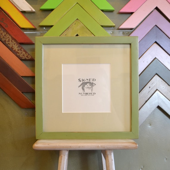 Sale 11x11 Square Picture Frame In 1x1 Style Matted To