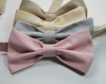 Neutral Bow Ties Blush Bow Ties Champagne Bow Ties Mens Bow Ties Custom Bow Ties Wedding Bow Ties