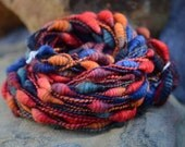 RESERVED - Rooster - falkland supercoils handspun art yarn - 63 yards, super bulky
