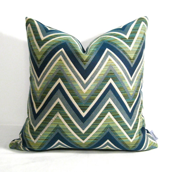 Modern Green Pillow Cover : Decorative Outdoor Pillow Cover Navy Blue & Olive by Mazizmuse