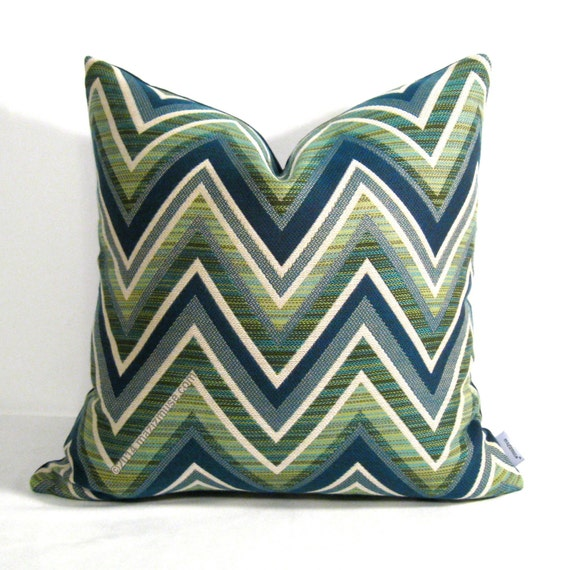 Decorative Outdoor Pillow Covers : Decorative Outdoor Pillow Cover Navy Blue & Olive by Mazizmuse