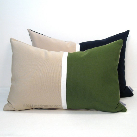 Modern Green Pillow : Olive Green Pillow Cover Modern Pillow Green by Mazizmuse