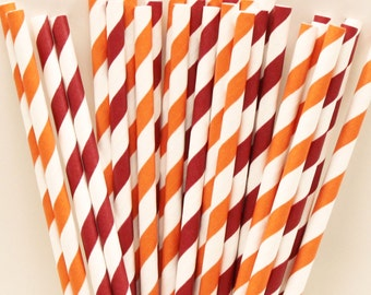 Paper Straws, Virginia Tech Team Colors Party Straws Mix, Hokies, Tailgate, Drinks, College, Football, Team Colors, Sports Night, Super Bowl