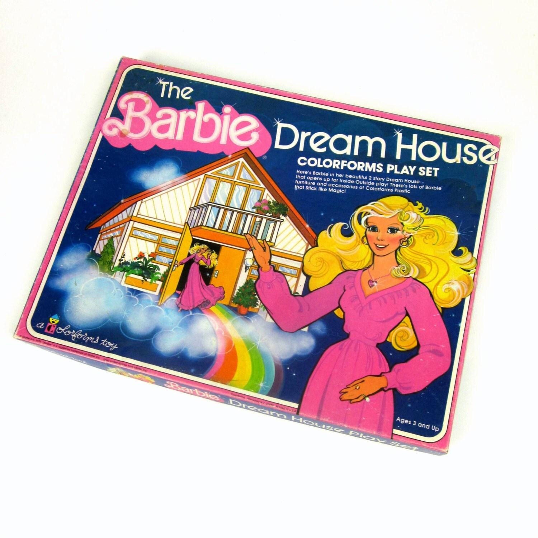 Barbie Dream House Large Colorforms Play Set 1979 / Complete