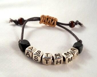 Adjustable Closure Medical Alert Bracelet Customized for Your Medical Condition