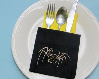 Halloween flatware silverware holders