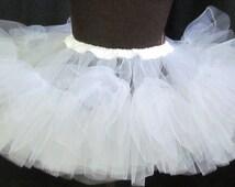 Netting Pettiskirt Tutu Adult Size Extra Full Cosplay Costume Accessory Underskirt Petticoat