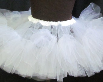 Netting Pettiskirt Tutu Adult Size Extra Full Cosplay Costume Accessory Underskirt Petticoat