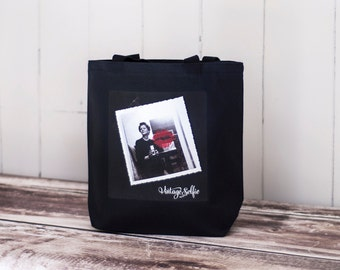 I'm my Own Valentine ~ Vintage Selfie - Canvas Bag  - Black Essentials Tote