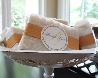 40 Soap Favours - 3 oz.bars - for your special event - party - bridal - baby - showers