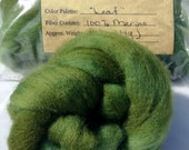 "Needle Felting Wool, Needle Felting Roving, ""Leaf"" Wet Felting Wool"