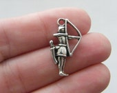 BULK 20 Archer charms antique silver tone SW27