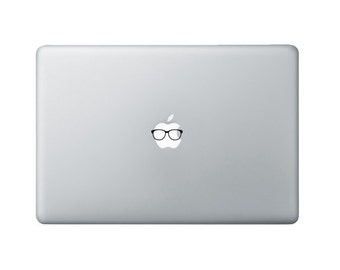 Tiny Nerd Glasses Macbook Decal - Nerd Glasses Laptop Decal - Nerd Decal