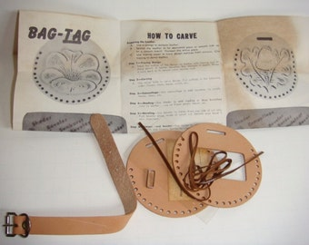 Tandy Leather Kit - Luggage Tag - Suitcase Tag - Bag Tag