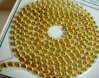 Vintage Gold Plastic Bead Garland