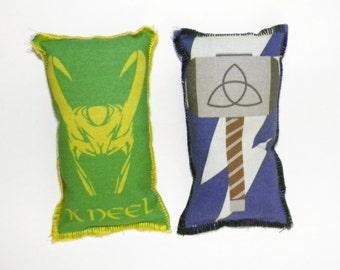 Loki and Thor Two Catnip Toys