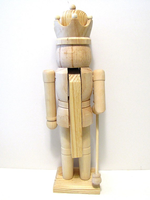 Nutcracker With Staff 12 Inch Unfinished Wood Diy Ready To