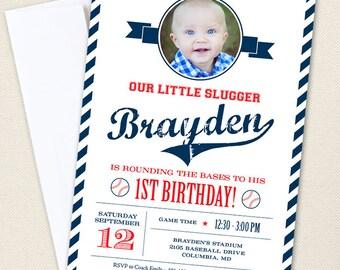 Baseball Party Photo Invitations - Professionally printed *or* DIY printable
