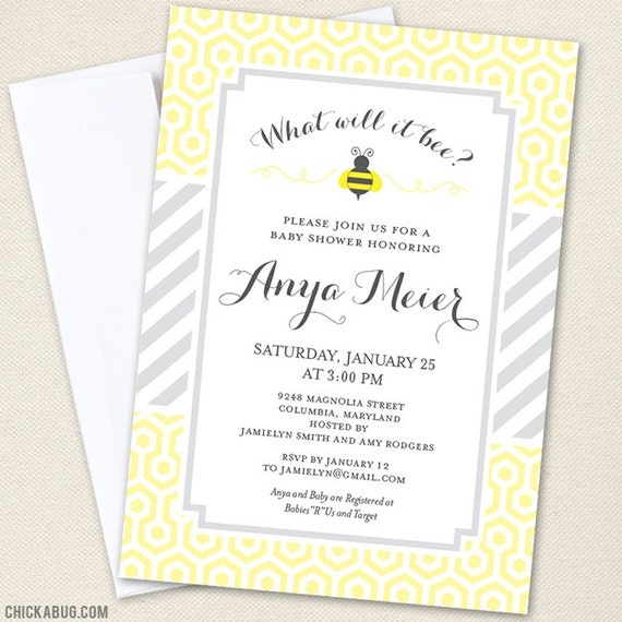 what will it bee baby shower invitations professionally printed or