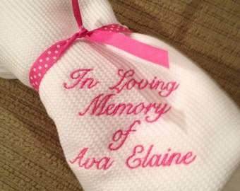 Baby Remembrance Blanket Condolence Gift