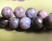 9mm BLUE JASPER round beads 1/2 strand