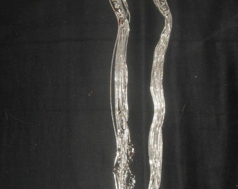 """Wholesale Lot Of 10  Silver Tone 18"""" 1mm Snake Chains"""