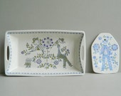 Set of Lotte rectangular baking dish and trivet by Turi Gramstad Oliver for Figgjo Norway