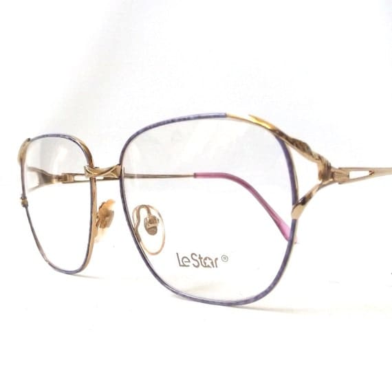 Big Glasses With Thin Frames : vintage 1980s le star eyeglasses NOS thin by ...