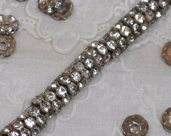 8 mm Vintage Crystal Rhinestone Rondelle Beads 20 or 50 Pieces