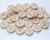 SALE  Almond Off White Vintage Plastic Buttons 14mm Sewing Craft Buttons Set 35