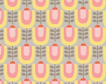 Organic Cotton Fabric-monaluna -Haven- LITTLE GARDEN - low shipping