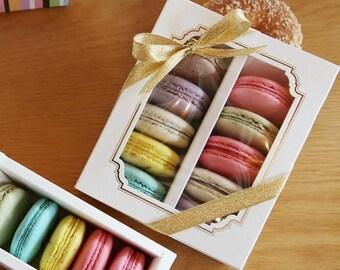 10 Window Macaron boxes (10 holding type)