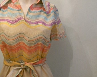 vintage. 60s MOD Dress // Fred Rothschild of California // S