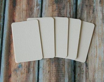 50pc LAID WHITE Prestige Series Business Card Blanks