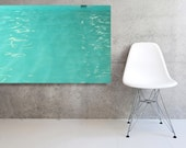Stretched and Mounted Large Canvas Mid Century Pool Modern Wall Decor Abstract Photography