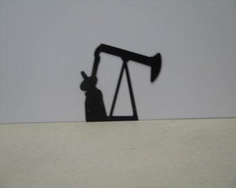Energy 002 Metal Oil Pumper Art Silhouette