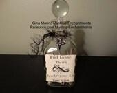 Wild Rose Thorn Glass Vampire Bottle Decanter