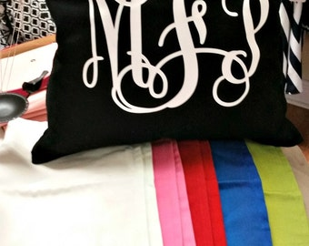 Monogrammed Pillow Cover