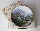 Chandler's Cottage Thomas Kinkade Porcelain Decorative Plate Knowles