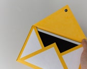 Mail Icon Paper Sleeves for iPad Mini (Yellow & White)
