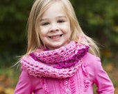 PINK Toddler Scarf Wrap Cowl Scarf Scarves Kids Infant Scarf Little Girl Infinity Scarf Photography Kids Scarf Cowl Handmade by MaryYarns