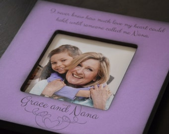 Personalized Photo Picture Frame for Grandmother / Nana / Grandma / Grammie from Grandchild / Granddaughter / Grandson